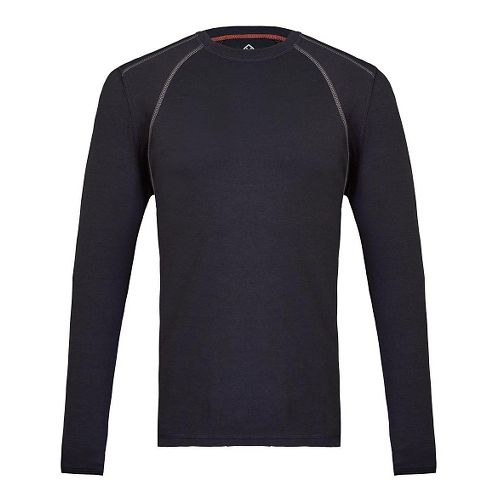 Mens Tasc Performance Hybrid Fitted Crew Long Sleeve Technical Tops - Dark Navy L