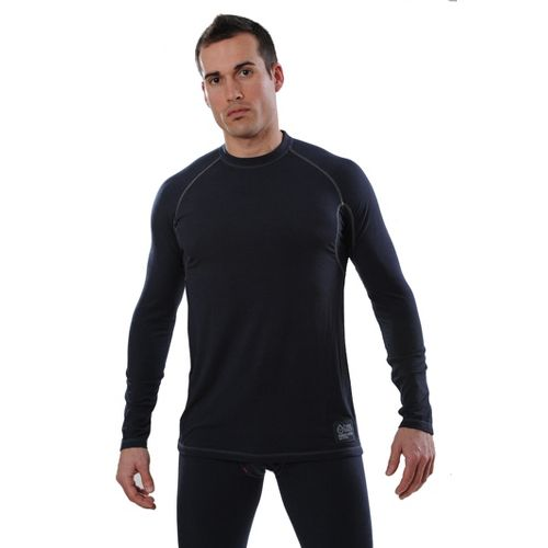 Mens tasc Performance Base LS Level A Long Sleeve No Zip Technical Tops - Gunmetal ...