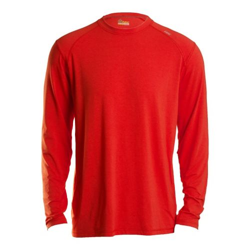 Mens Tasc Performance Beaver Falls Long Sleeve No Zip Technical Tops - Lava L
