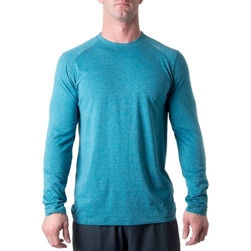 Mens Tasc Performance Beaver Falls Long Sleeve No Zip Technical Tops - Marina Heather S ...