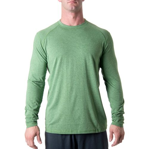 Mens Tasc Performance Beaver Falls Long Sleeve No Zip Technical Tops - Mossy Heather M ...