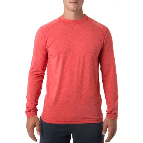 Mens Tasc Performance Beaver Falls Long Sleeve No Zip Technical Tops - Red Heather L ...