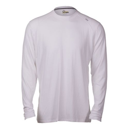 Mens Tasc Performance Beaver Falls Long Sleeve No Zip Technical Tops - White S
