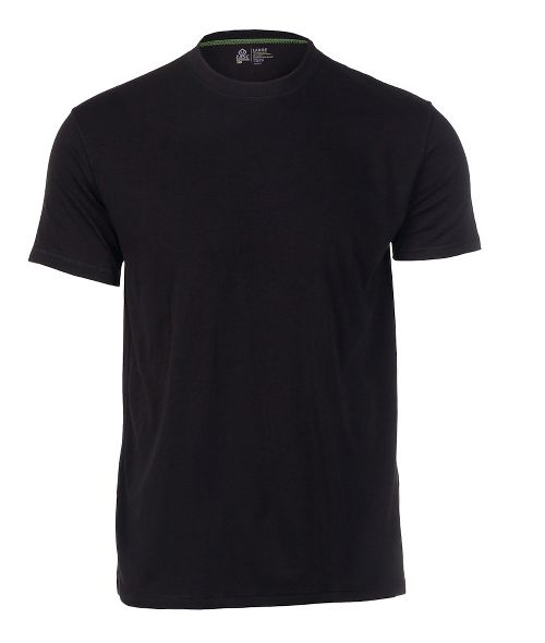 Mens Tasc Performance Crew Neck Undershirt Short Sleeve Technical Tops - Black L