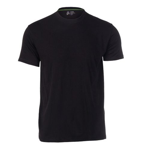 Mens Tasc Performance Crew Neck Undershirt Short Sleeve Technical Tops - Black XL