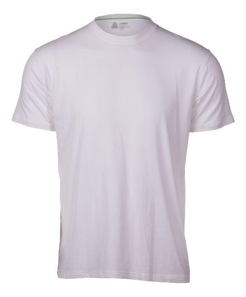 Mens Tasc Performance Crew Neck Undershirt Short Sleeve Technical Tops - White S