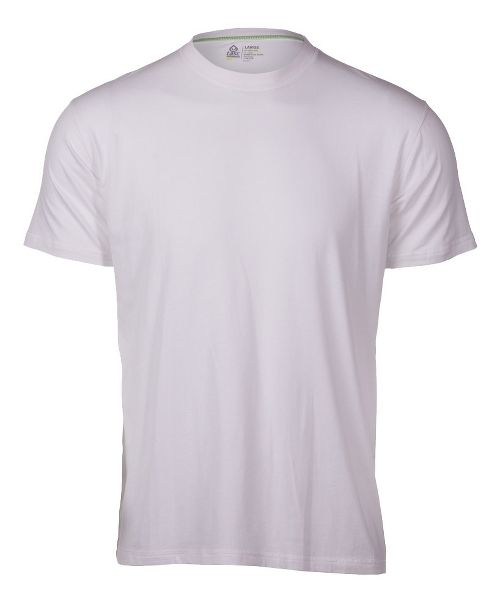Mens Tasc Performance Crew Neck Undershirt Short Sleeve Technical Tops - White XL