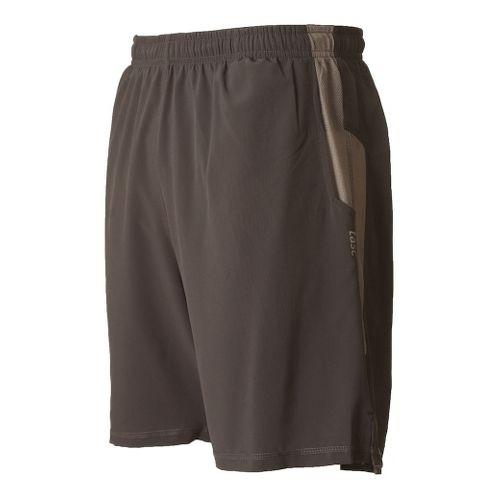 Mens Tasc Performance Motivate Lined Shorts - Gunmetal/Heather Grey M