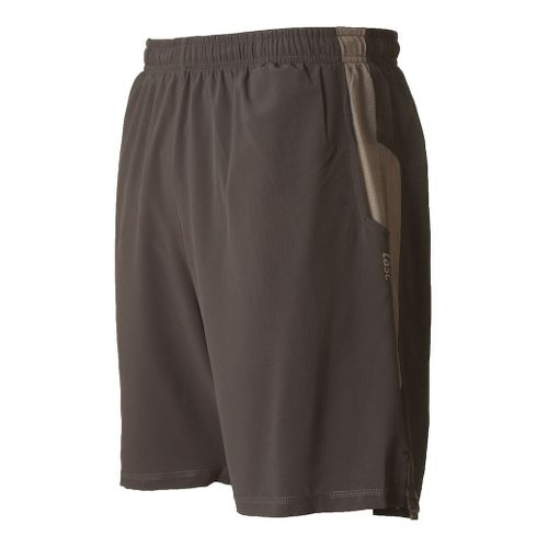 Mens Tasc Performance Motivate Lined Shorts - Gunmetal/Heather Grey XL