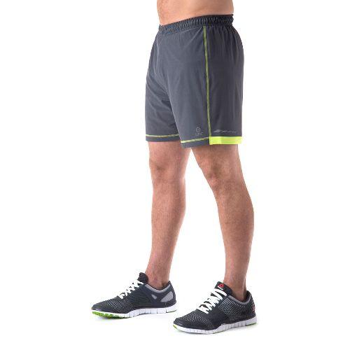 Mens Tasc Performance Motivate Lined Shorts - Gunmetal/Kryptonite L