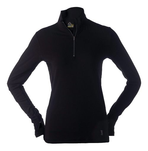 Womens Tasc Performance Sideline Long Sleeve 1/2 Zip Technical Tops - Black L