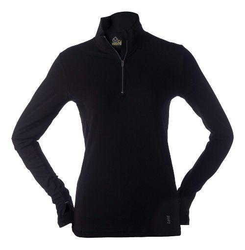 Womens Tasc Performance Sideline Long Sleeve 1/2 Zip Technical Tops - Black S