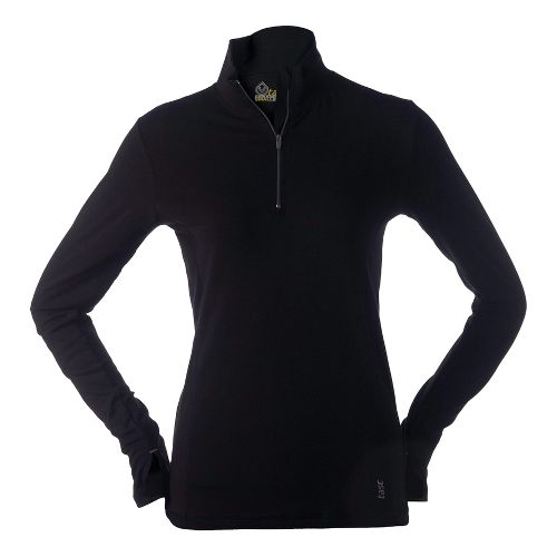 Womens Tasc Performance Sideline Long Sleeve 1/2 Zip Technical Tops - Black M