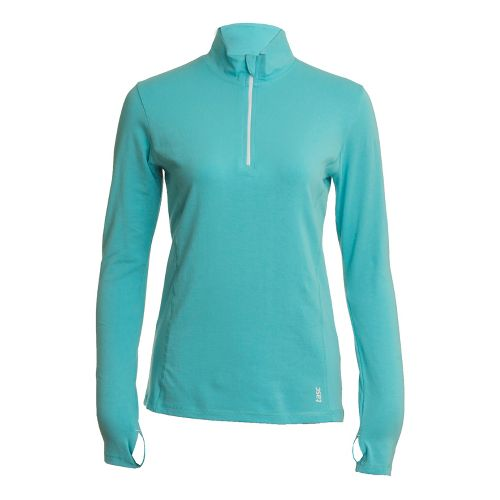 Womens Tasc Performance Sideline Long Sleeve 1/2 Zip Technical Tops - Caribbean Sea XS