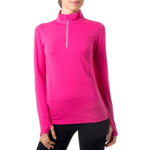 Womens Tasc Performance Sideline Long Sleeve 1/2 Zip Technical Tops - Fruit Punch L