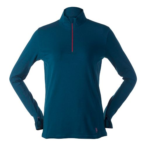 Womens Tasc Performance Sideline Long Sleeve 1/2 Zip Technical Tops - Seaport L