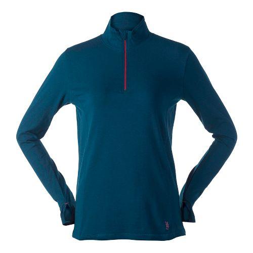 Womens Tasc Performance Sideline Long Sleeve 1/2 Zip Technical Tops - Seaport XL