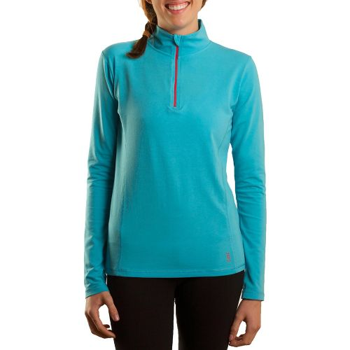 Womens Tasc Performance Sideline Long Sleeve 1/2 Zip Technical Tops - Surf's Up/True Navy XL ...