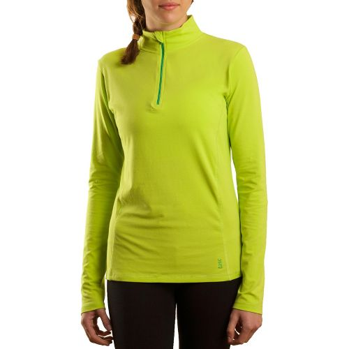 Womens Tasc Performance Sideline Long Sleeve 1/2 Zip Technical Tops - Sprout/Mojito L