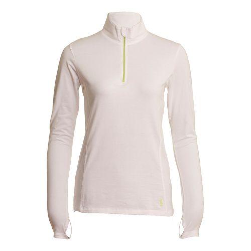 Womens Tasc Performance Sideline Long Sleeve 1/2 Zip Technical Tops - White M