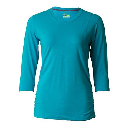 Womens Tasc Performance Trek Slubbed 3/4 T Long Sleeve No Zip Technical Tops