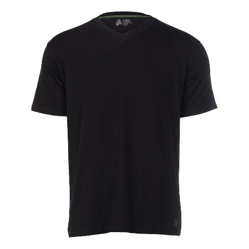Mens Tasc Performance V-Neck Undershirt Short Sleeve Technical Tops - Black XL