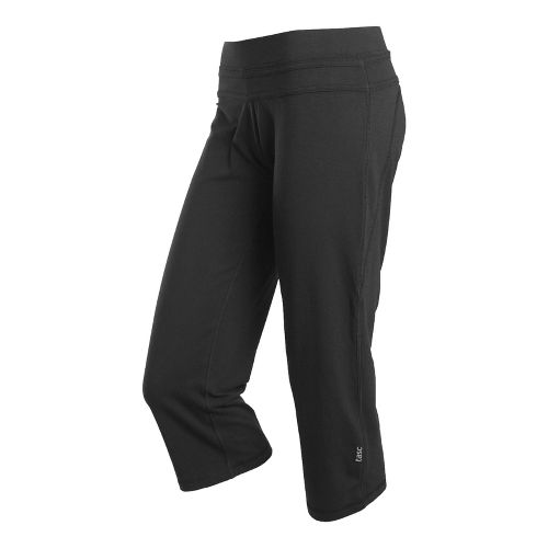 Womens Tasc Performance Loose Fit Training Capri Pants - Black XS