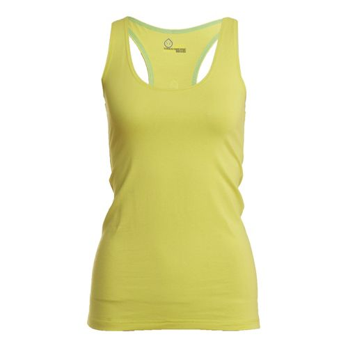 Womens Tasc Performance Basic Racer Tanks Technical Tops - Daiquiri L