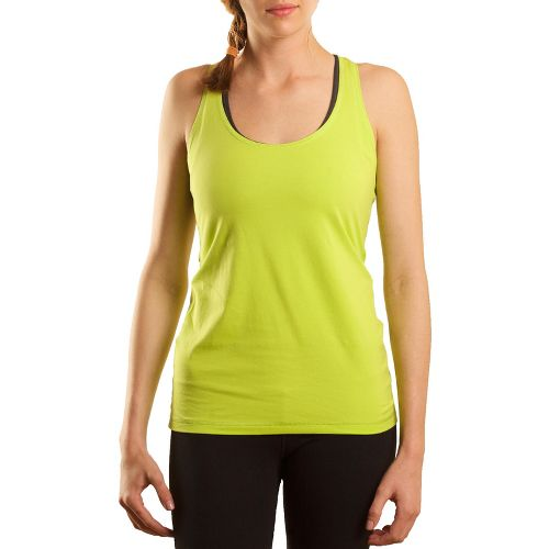 Womens Tasc Performance Basic Racer Tanks Technical Tops - Sprout S