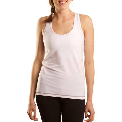 Womens Tasc Performance Basic Racer Tanks Technical Tops - White XL