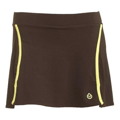 Womens Tasc Performance Swerve Fitness Skirts - Black/Daiquiri XS