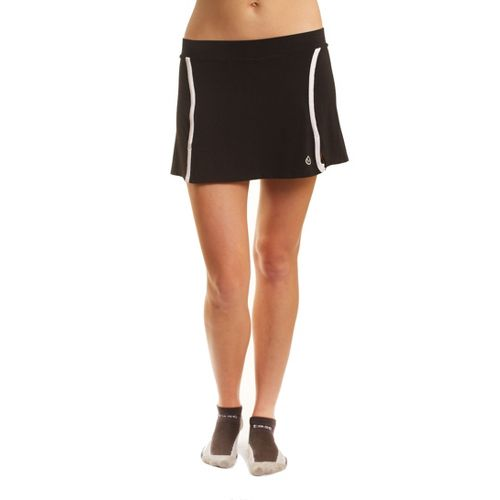 Womens Tasc Performance Swerve Fitness Skirts - Black/White M