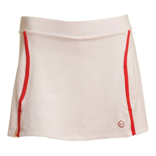 Womens Tasc Performance Swerve Fitness Skirts - White/Persimmon XS
