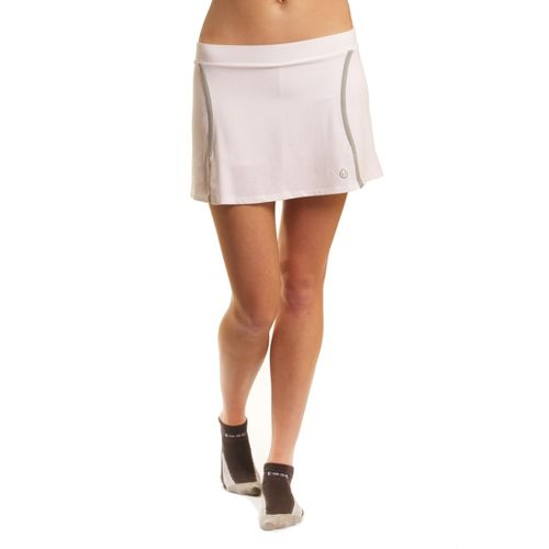 Womens Tasc Performance Swerve Fitness Skirts - White/Storm M