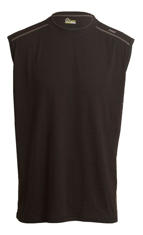Mens Tasc Performance Core Sleeveless Technical Tops - Black M