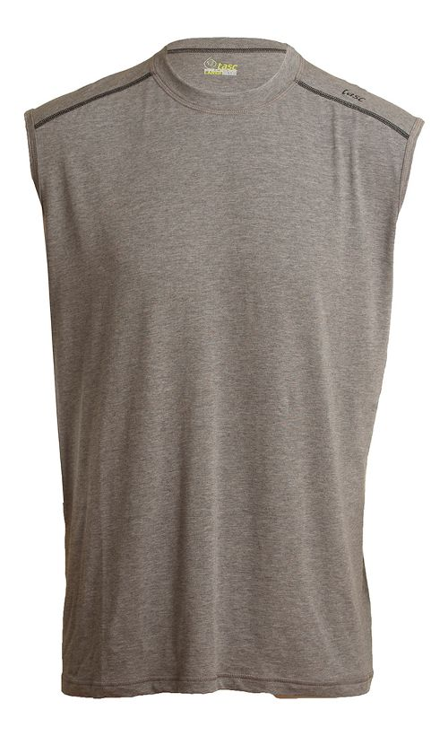 Mens Tasc Performance Core Sleeveless Technical Tops - Heather Grey M