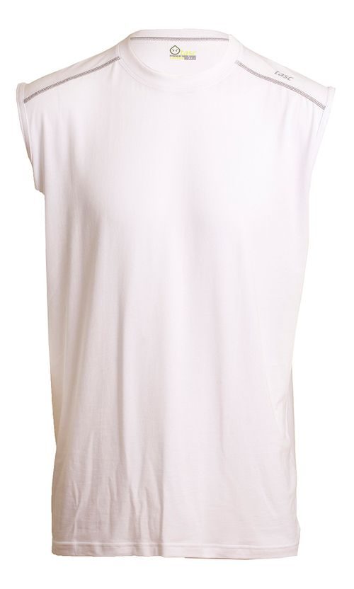 Mens Tasc Performance Core Sleeveless Technical Tops - White M