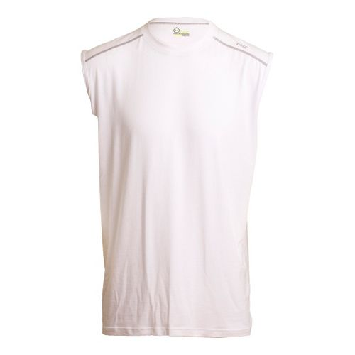 Mens Tasc Performance Core Sleeveless Technical Tops - White L