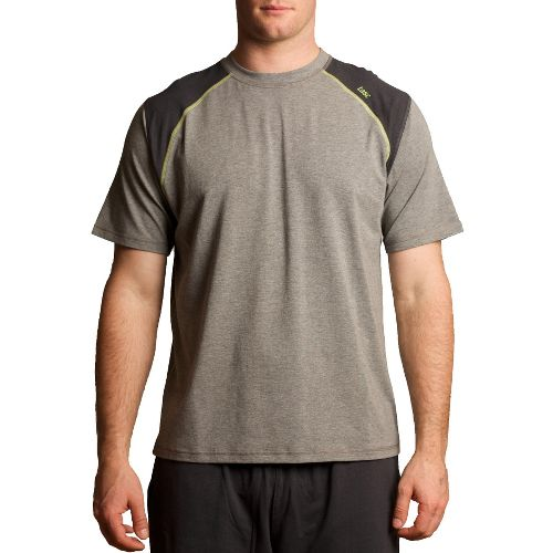 Mens Tasc Performance Blaze T Short Sleeve Technical Tops - Heather Grey/Kryptonite XL
