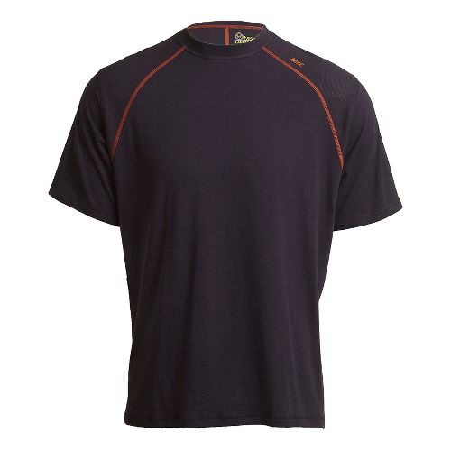 Mens Tasc Performance Blaze T Short Sleeve Technical Tops - Navy/Orange M