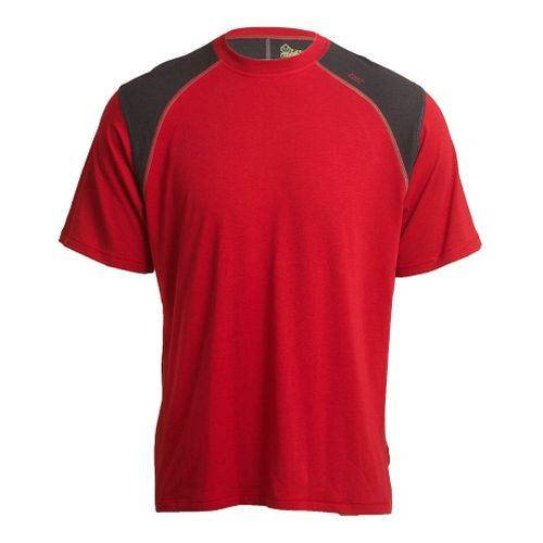 Mens Tasc Performance Blaze T Short Sleeve Technical Tops - True Red/Heather Grey XL
