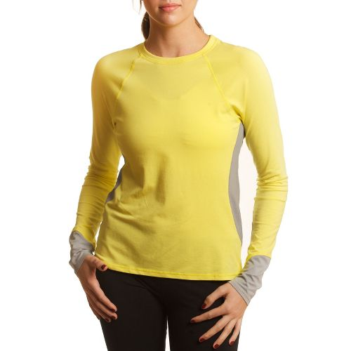 Womens Tasc Performance 5K Long Sleeve No Zip Technical Tops - Sun/Storm L