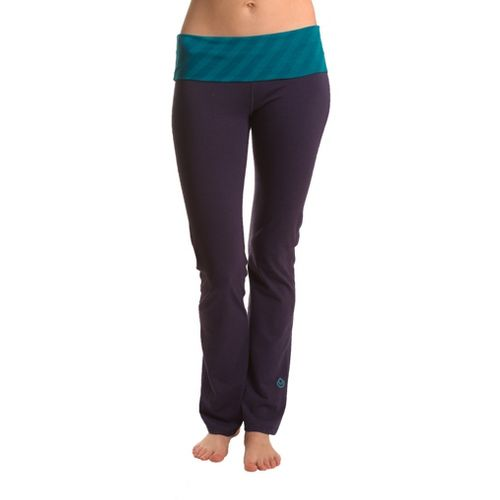 Womens Tasc Performance Bliss Yoga Full Length Pants - True Navy/Peacock XL