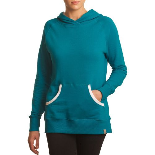 Womens Tasc Performance Pep Hoodie Warm-Up Hooded Jackets - Peacock L