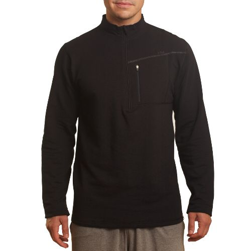 Mens Tasc Performance Explorer 1/4-Zip Fleece Long Sleeve 1/2 Zip Technical Tops - Black S ...