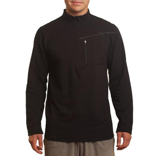 Mens Tasc Performance Explorer 1/4-Zip Fleece Long Sleeve 1/2 Zip Technical Tops - Black XL ...