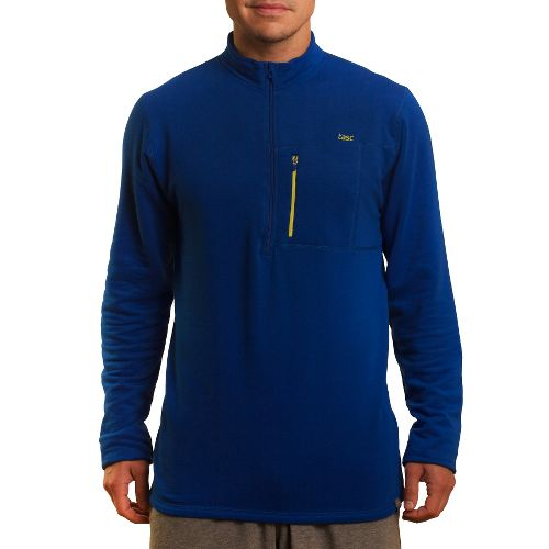 Mens Tasc Performance Explorer 1/4-Zip Fleece Long Sleeve 1/2 Zip Technical Tops - Cobalt L ...