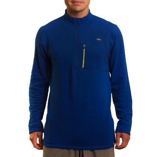 Mens Tasc Performance Explorer 1/4-Zip Fleece Long Sleeve 1/2 Zip Technical Tops - Cobalt M ...