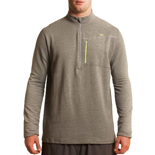 Mens Tasc Performance Explorer 1/4-Zip Fleece Long Sleeve 1/2 Zip Technical Tops - Heather Grey ...