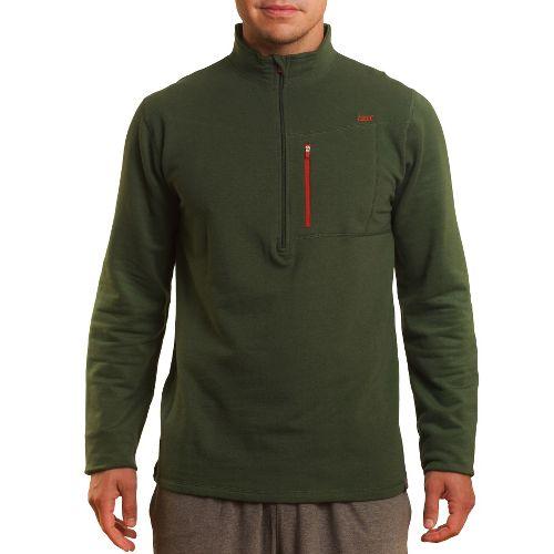 Mens Tasc Performance Explorer 1/4-Zip Fleece Long Sleeve 1/2 Zip Technical Tops - Thriv Green ...